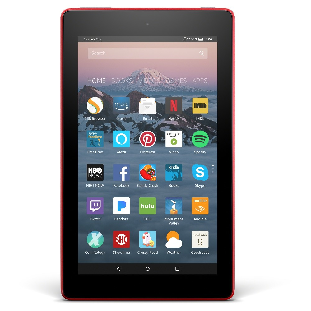Amazon Fire 7 with Alexa (7 Display Tablet) Punch Red - 16GB