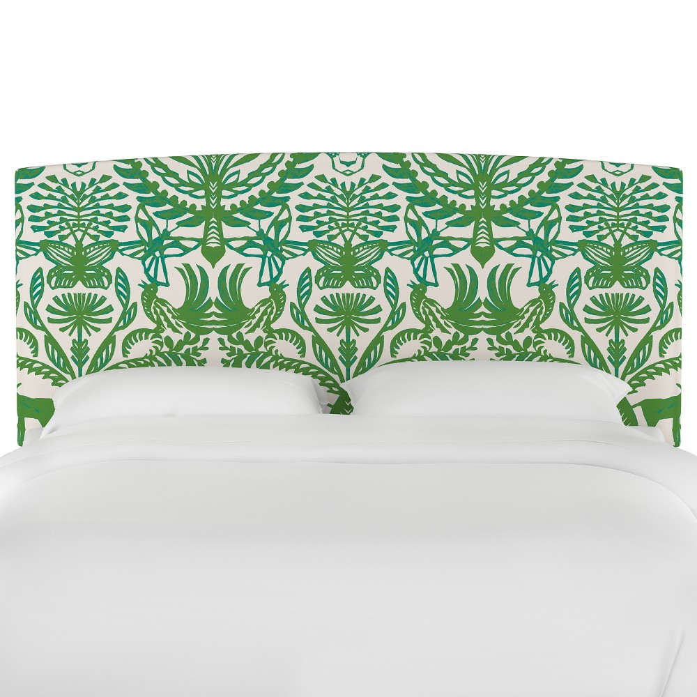 Upholstered Headboard Twin Animal Print Green/Cream - Opalhouse, Green & Cream Animal Print