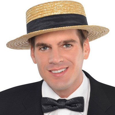 Adult Straw Hat Halloween Costume Headwear
