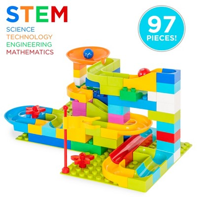 Best Choice Products 97-Piece Marble Maze Run Racetrack Puzzle Construction Game Set STEM Toy w/ 4 Balls