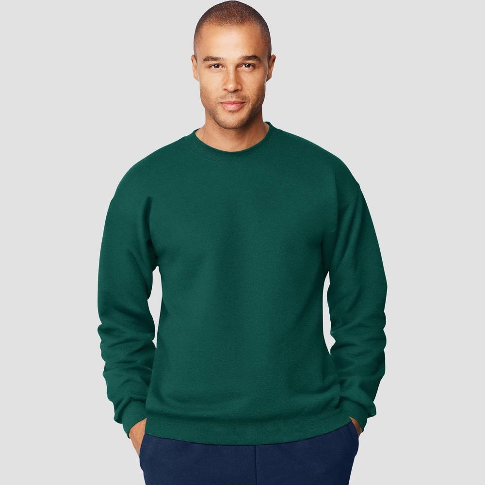 Hanes Men S Ultimate Cotton Sweatshirt Forest 2xl