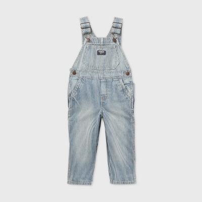 OshKosh B'gosh Toddler Boys' Railroad Striped Denim Overall - Blue 18M