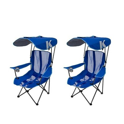 Exceptionnel Kelsyus Premium Portable Camping Folding Lawn Chair With Canopy, Blue (2  Pack) : Target