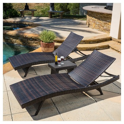 Superieur Salem 3pc Wicker Patio Adjustable Chaise Lounge Set   Christopher Knight  Home : Target