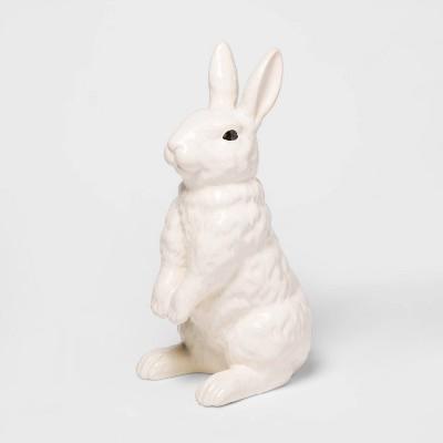 "12.6"" x 5.3"" Decorative Ceramic Bunny Figurine White - Threshold™"