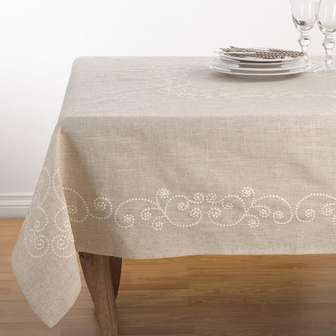Swirl Embroidered Tablecloth - image 1 of 2