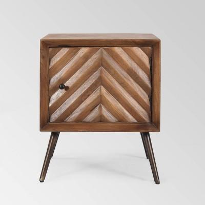 Harrington MidCentury Modern Cabinet Dark Brown - Christopher Knight Home