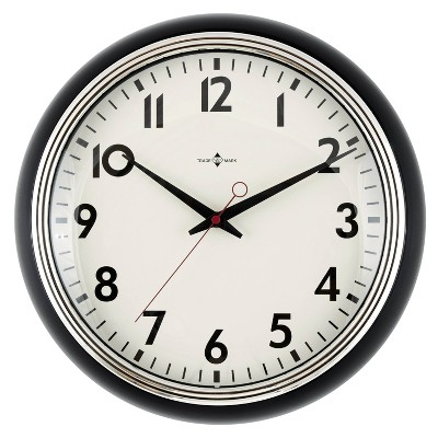 "14"" Schoolhouse Clock Black - Threshold™"