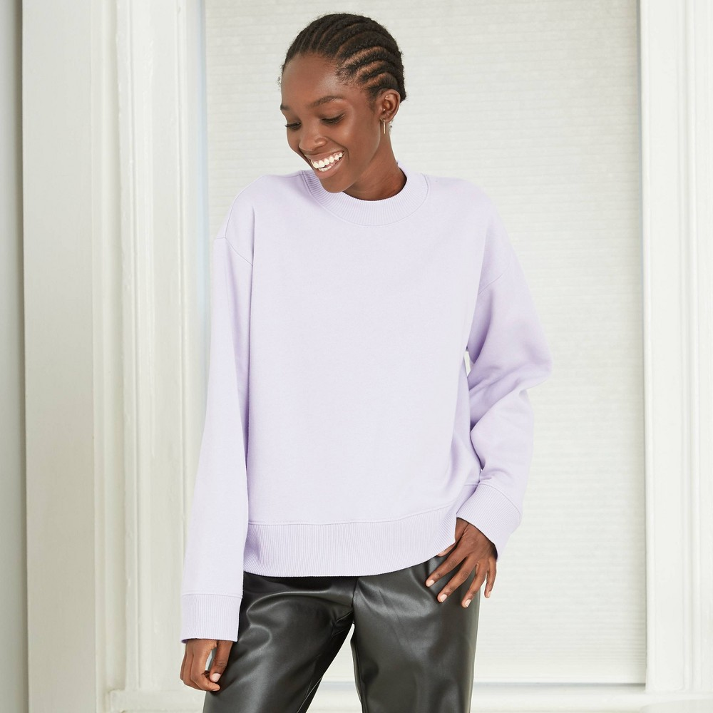 Women 39 S All Day Fleece Sweatshirt A New Day 8482 Purple Xxl