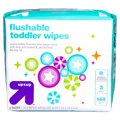 Toddler Wipes Flushable - 144ct - Up&Up™