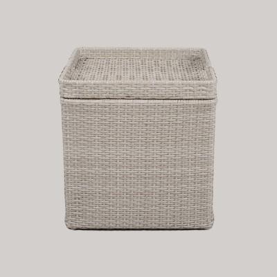 Wicker Storage Accent Patio Table - Gray - Threshold™