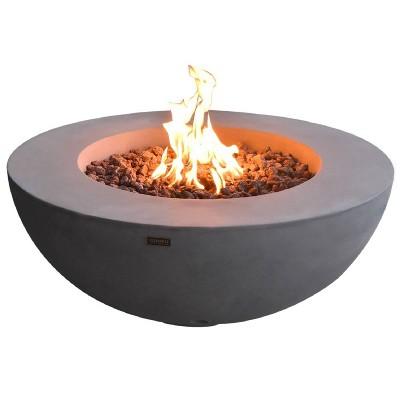 """Lunar 42"""" Propane Fire Pit Bowl Patio Heater - Elementi"""
