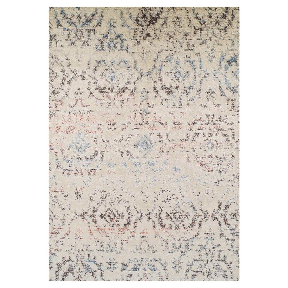 Linen Solid Woven Area Rug 5'3