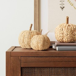 Decorative Raffia Pumpkin Figurine Brown - Threshold™
