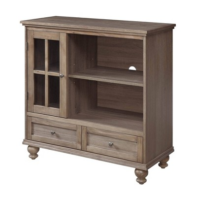 """Tahoe Highboy TV Stand for TVs up to 42"""" Driftwood - Breighton Home"""