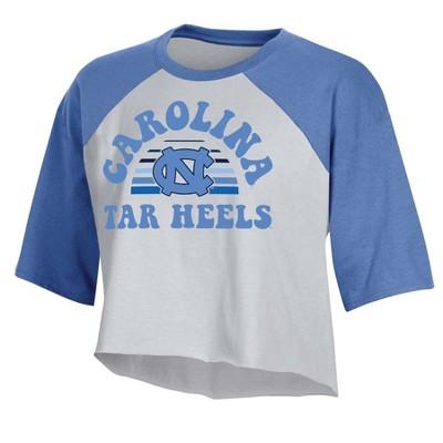 NCAA North Carolina Tar Heels Women's Short Sleeve Cropped T-Shirt