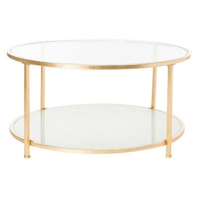 2 Tier Ivy Round Coffee Table Gold - Safavieh