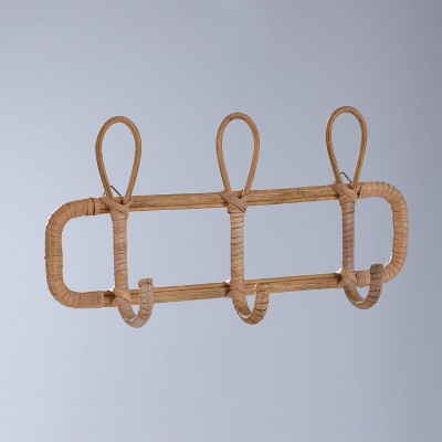 "15"" x 7"" Rattan Wall Hooks Natural - Opalhouse™"