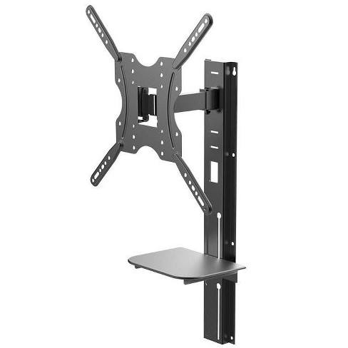 Full Motion Wall Mount Bracket with height adjustment Support Shelf for Medium 32~55in TVs up to 66 lbs - image 1 of 4