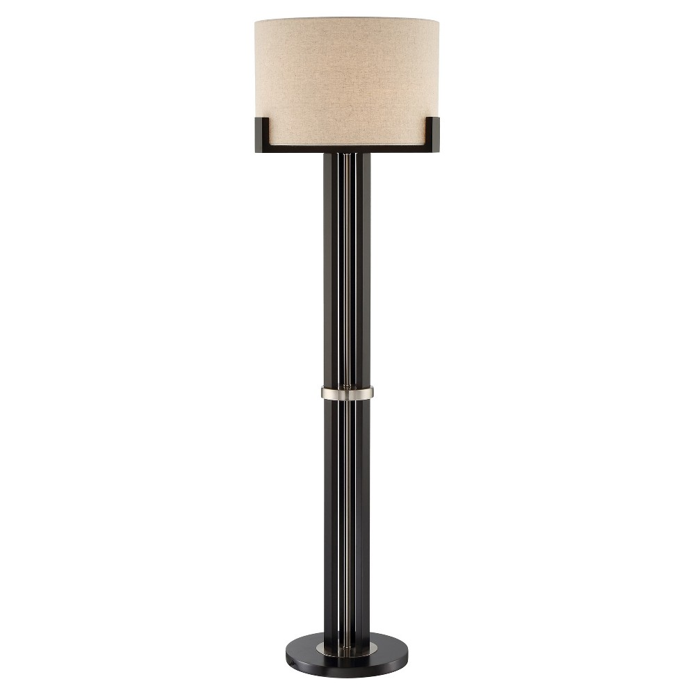 Image of Barend Floor Lamp Dark Walnut (Includes Energy Efficient Light Bulb) - Lite Source
