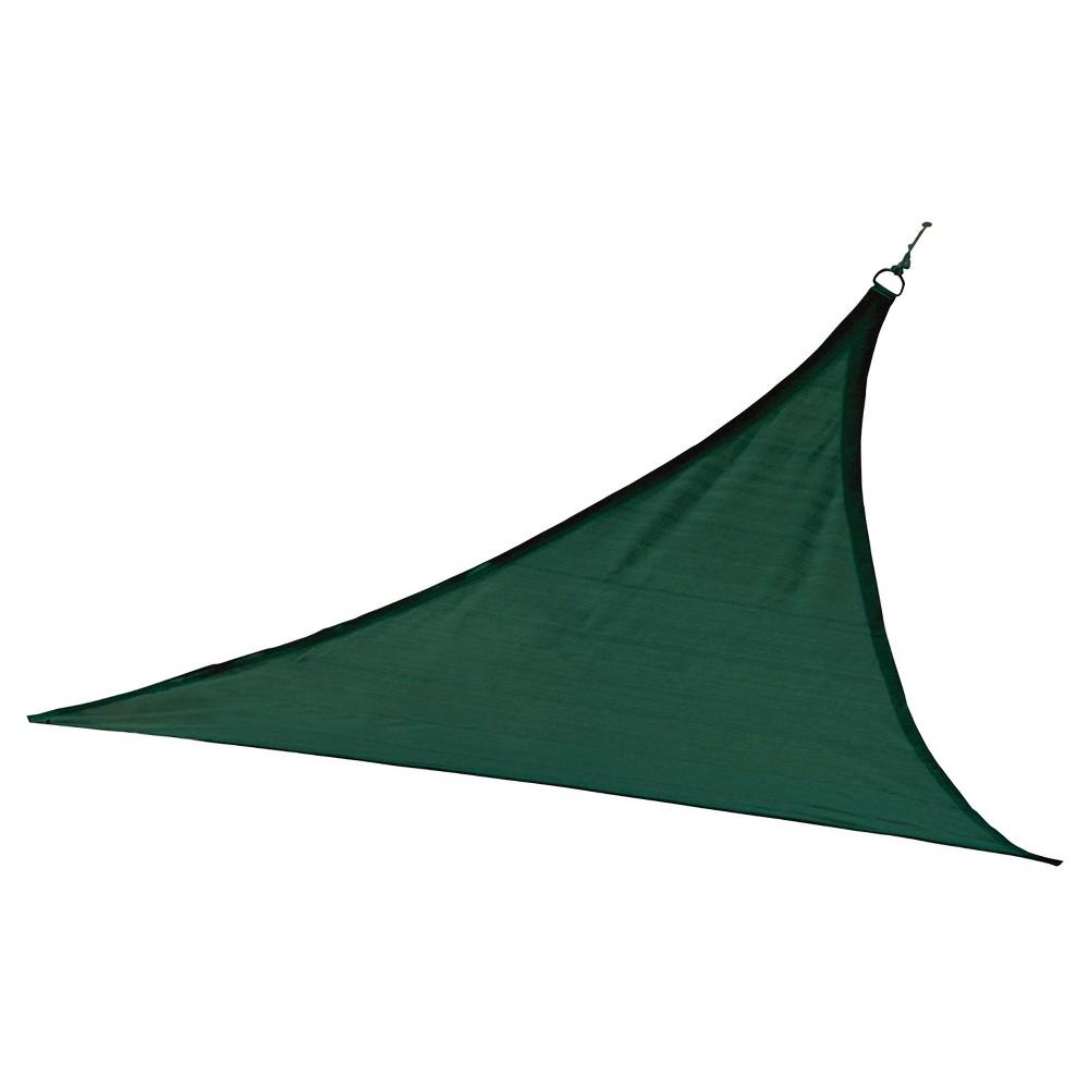 Shelter Logic Triangle Sun Shade Sail Evergreen 12' 230 gsm, Green