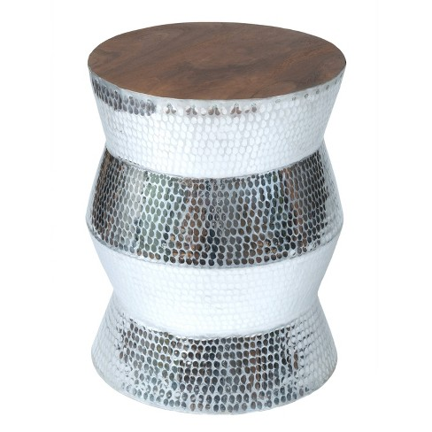 Hardy Aluminum Accent Table Light Silver - East at Main - image 1 of 3