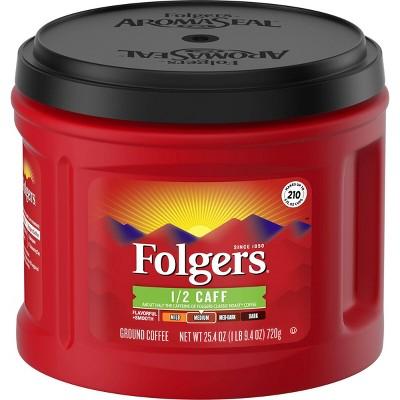 Coffee: Folgers 1/2 Caff