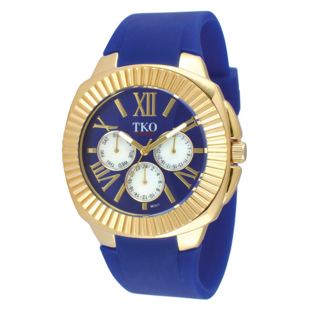 Women's Tko Multiple Function Rubber Strap Watch - Blue