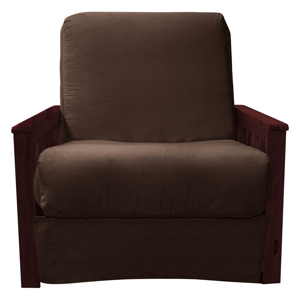 Mission Perfect Convertible Futon Sofa Sleeper - Mahogany Wood Finish - Epic Furnishings, Espresso Brown