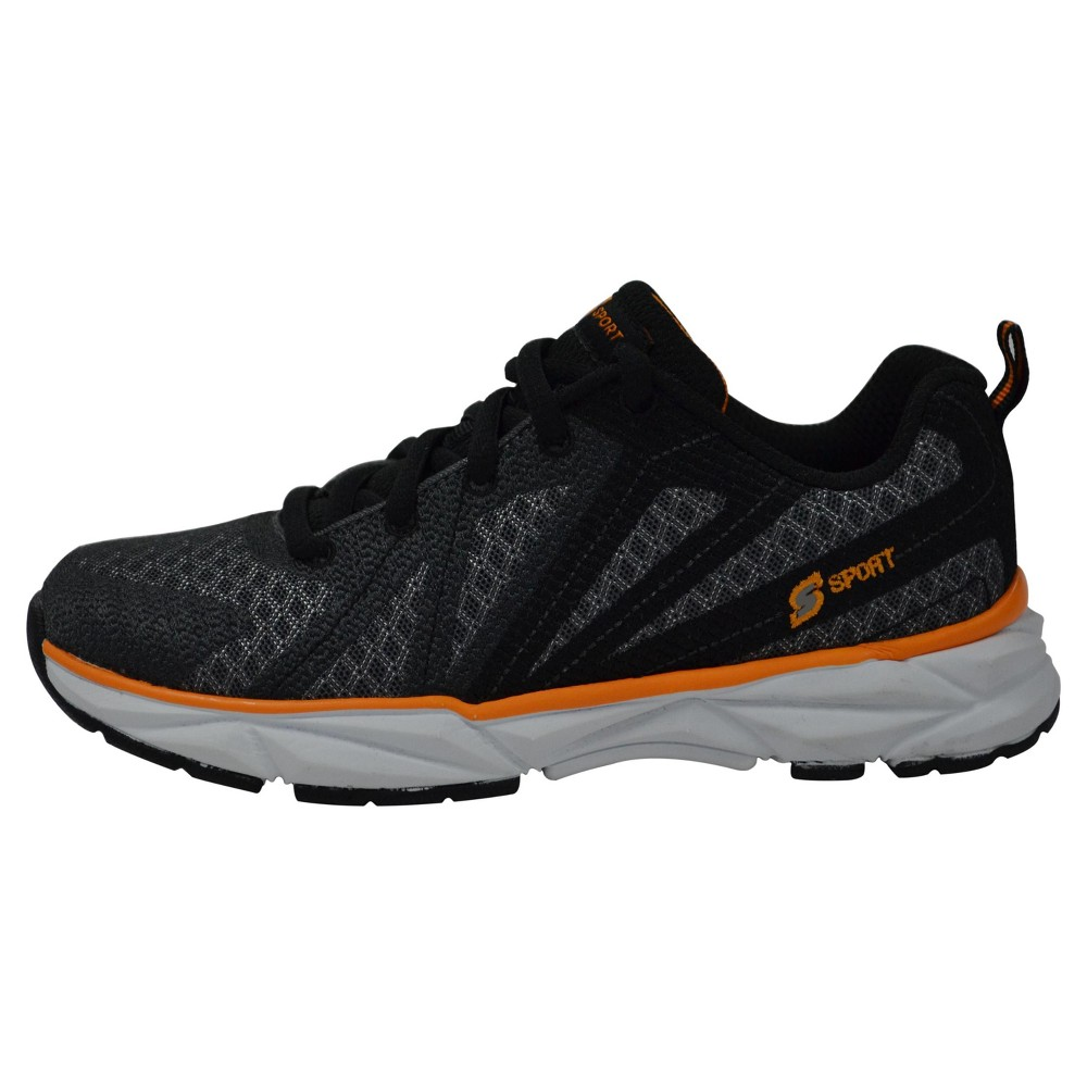 Boys' S Sport by Skechers Ixnay Athletic Shoes - Orange/White 5, Black White Orange
