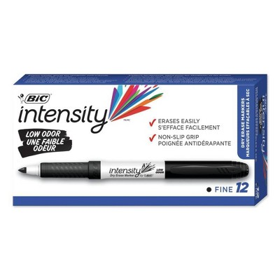 BIC Great Erase Grip 12pk Dry Erase Markers Black