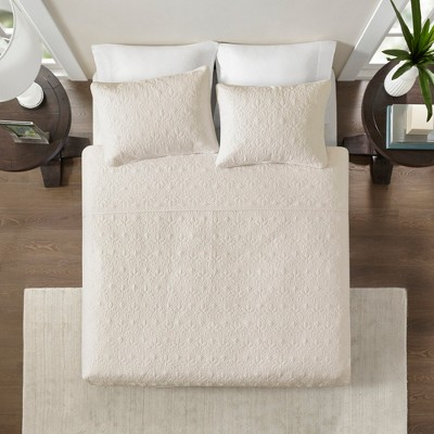 Ivory Vancouver Coverlet Set Full/Queen 3pc