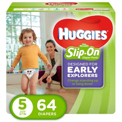 Huggies Little Movers Slip-On Diaper Pants - Size 5 (64ct)