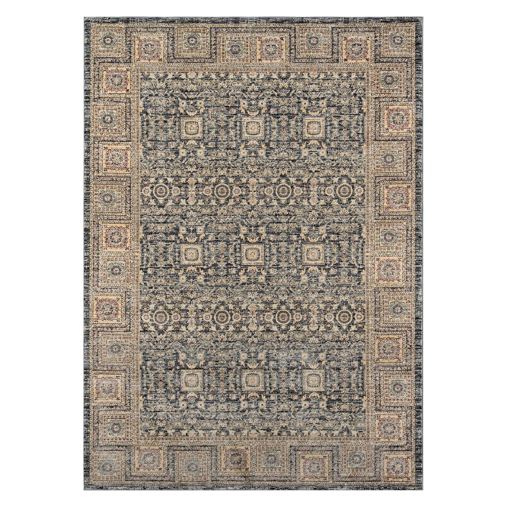 2'X3' Tribal Design Loomed Accent Rug Gray - Momeni