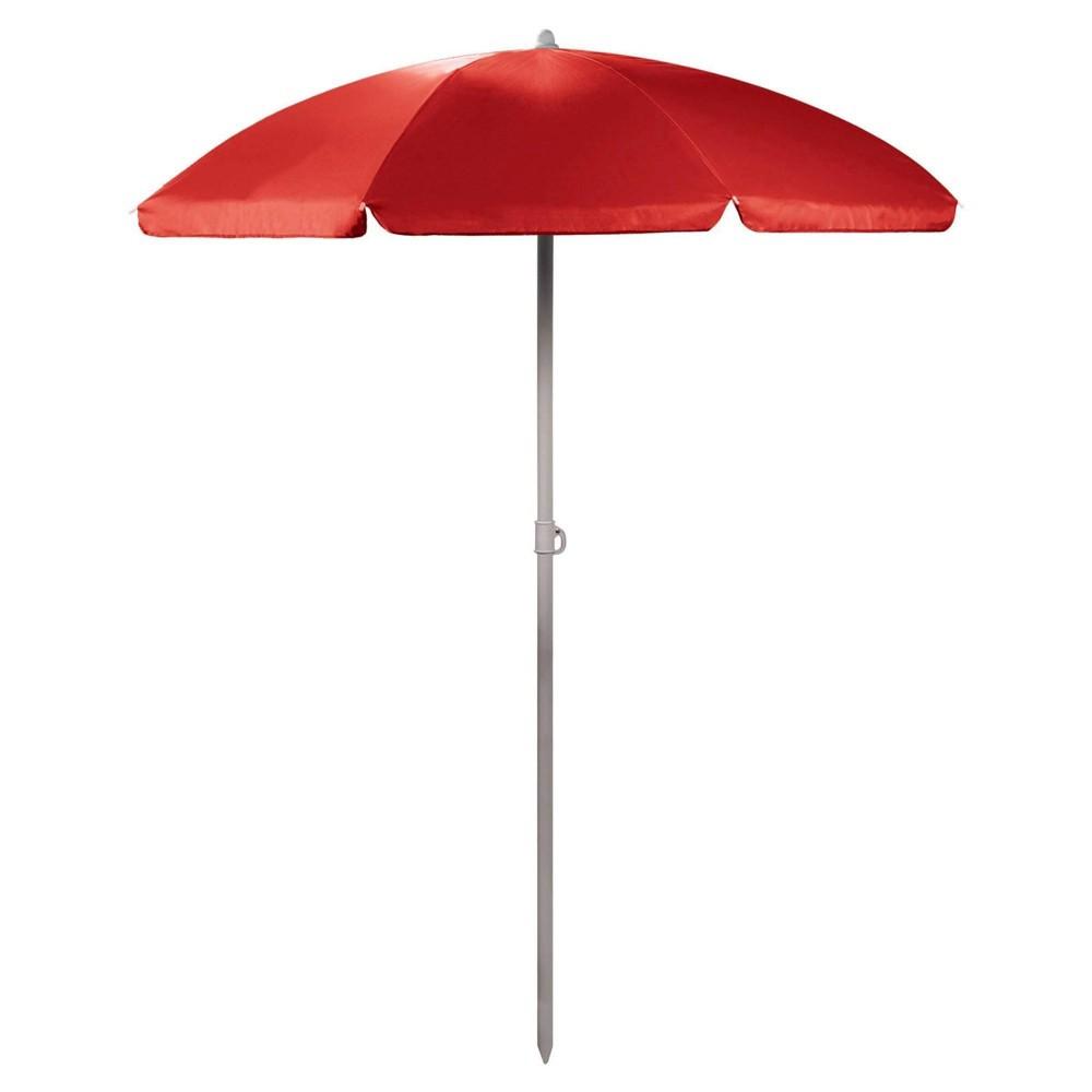 Picnic Time 5 5 39 Beach Umbrella Red