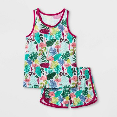 Girls' 2pc Tropical Tank Pajama Set - Cat & Jack™