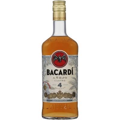 Bacardi 4yr Anejo Cuatro Rum - 750ml Bottle