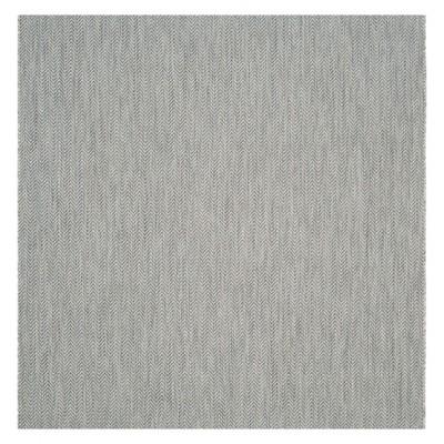 Positano Square 6'7  X 6'7  Outdoor Rug - Gray / Navy - Safavieh®