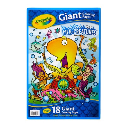 Crayola 18pg Giant Mer-Creatures Coloring Book