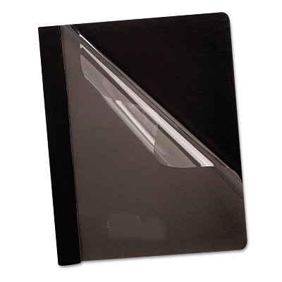Oxford Premium Paper Clear Front Cover 3 Fasteners Letter Black 25/Box 58806
