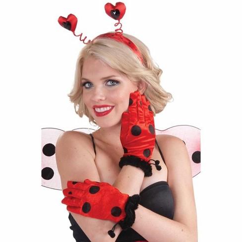 Forum Novelties Red & Black Polka Dot Lady Bug Short Gloves Costume Accessory - image 1 of 1