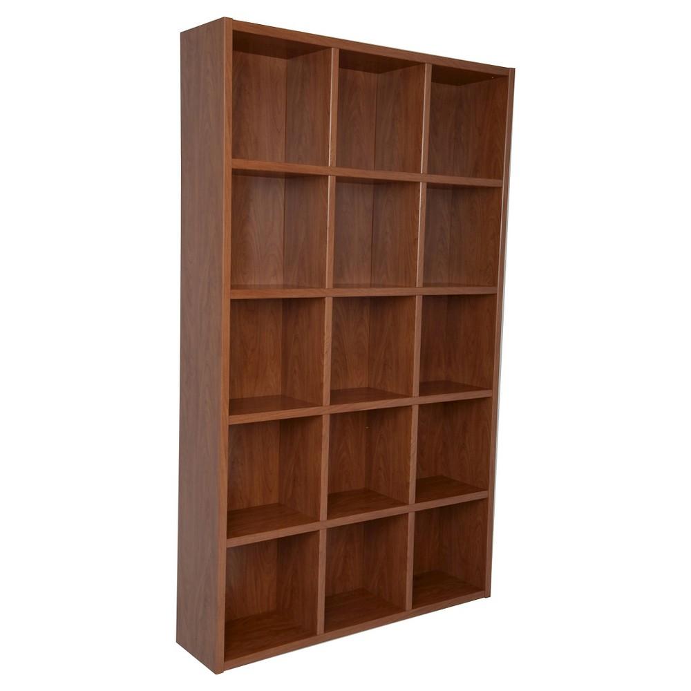 Boraam Techny Kline 78Bookcase - Golden Oak (Brown)