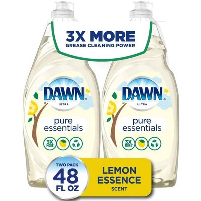 Dawn Ultra Pure Essentials Dish Washing Liquid Dish Soap - Lemon Essence Scent - 24 fl oz/2ct