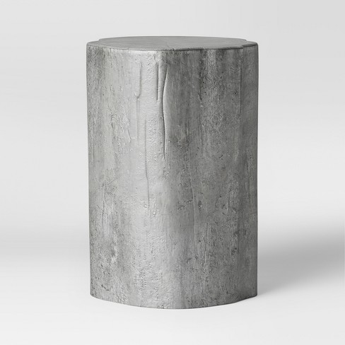 Tree Trunk Accent Table Silver - Threshold™ - image 1 of 3