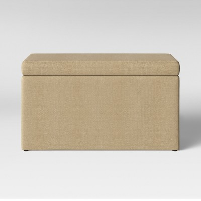 Double Storage Ottoman Beige - Room Essentials™
