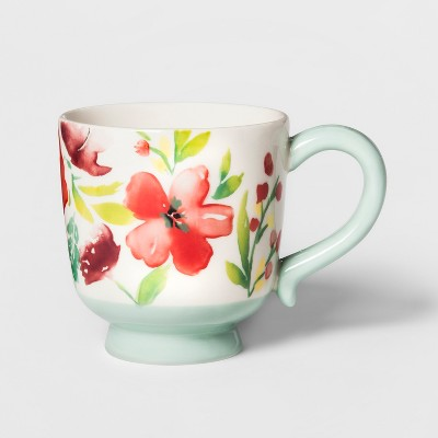 16.6oz Corinna Stoneware Floral Mug - Threshold™