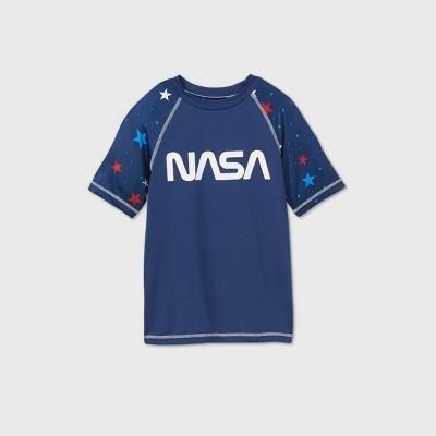 Boys' NASA Rash Guard Swim Shirt - Navy