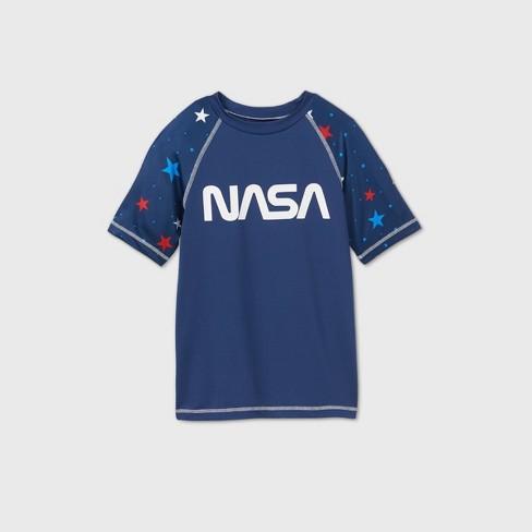 Boys' NASA Rash Guard Swim Shirt - Navy - image 1 of 2