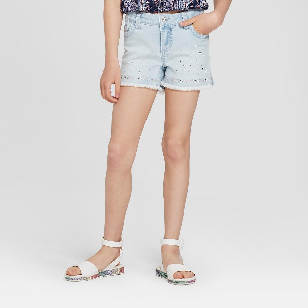Girls' First Isabel Bling Denim Shorts - Blue M