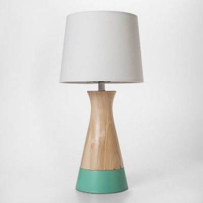 Mint & Wood Table Lamp - Pillowfort™